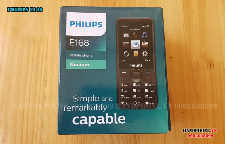 Mở hộp trên tay điện thoại Philips E168 pin bền giá rẻ
