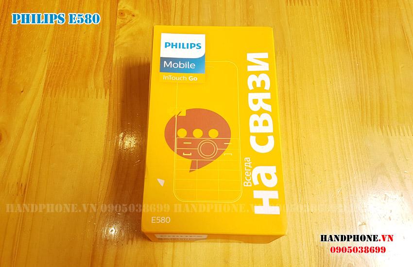 Mở hộp điện thoại Philips Xenium E580 Xuất Nga pin khủng