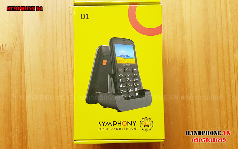 Mở hộp điện thoại dành cho người già Symphony D1 giá rẻ