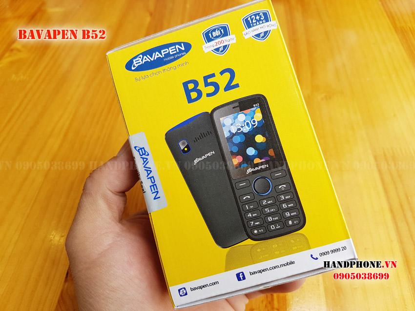 Mở hộp điện thoại Bavapen B52 pin trâu 3500mah giá rẻ