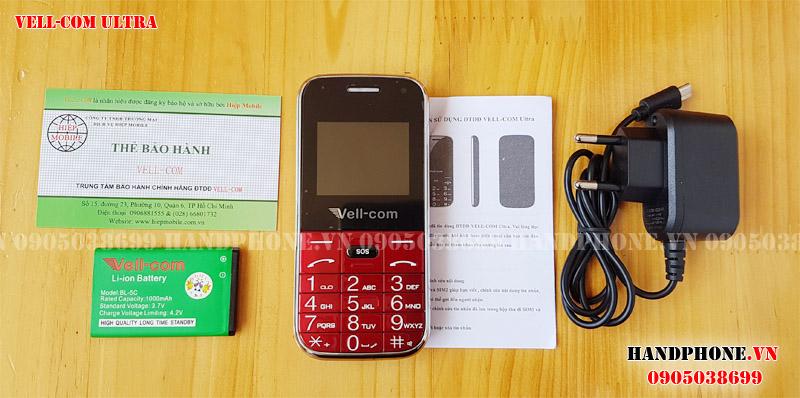 Mở hộp điện thoại dành cho người già Vell-com Ultra giá rẻ